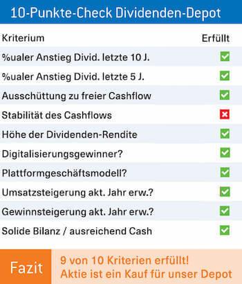 10-Punkte-Check Dividenden-Aktein